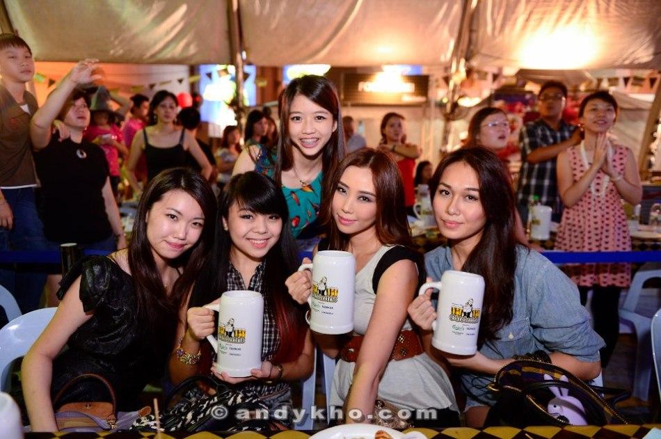 MHB girls enjoying their beers!