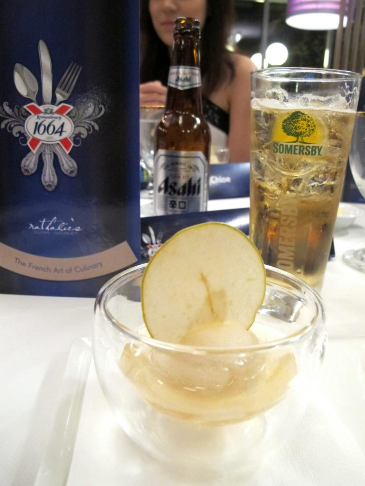 floating Somersby Apple cider sorbet took to palates after. The cider made from fresh apple juice