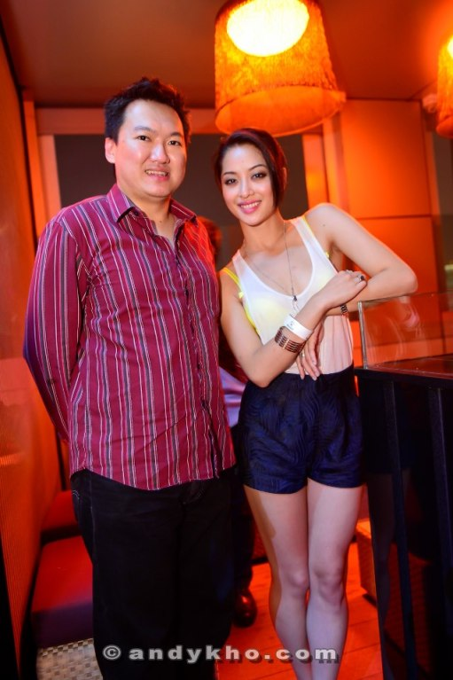 With celebrity actress and model Sarah Lian