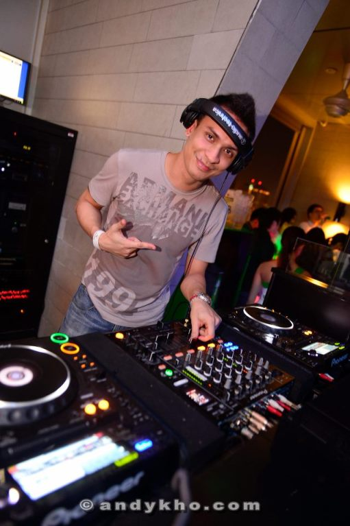 DJ Ramsey Westwood from Penang provided the beats for the night