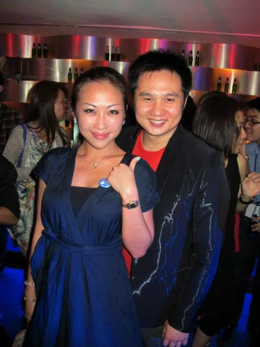 Aivee with famous Malaysian comedian Douglas Lim who brought the house down with his hilarious set