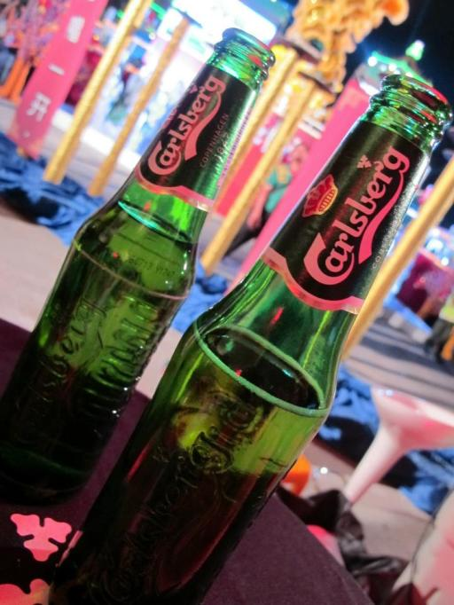 Chilling with loads of ice cold Carlsberg