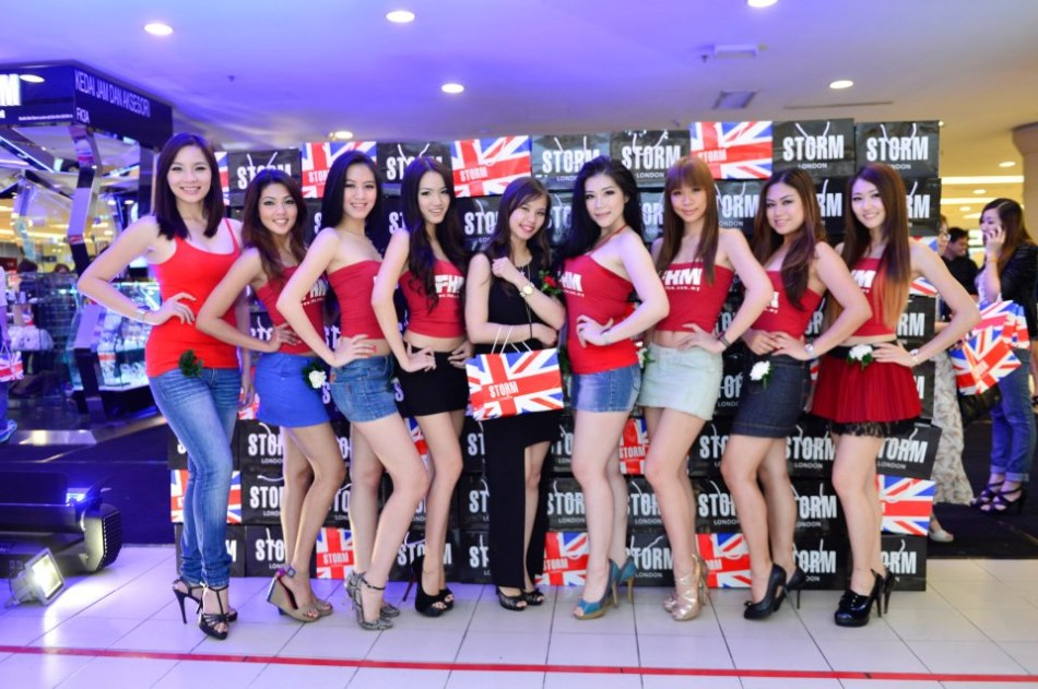 The FHM Girl Next Door 2013 Finalists with Vanessa from Storm London