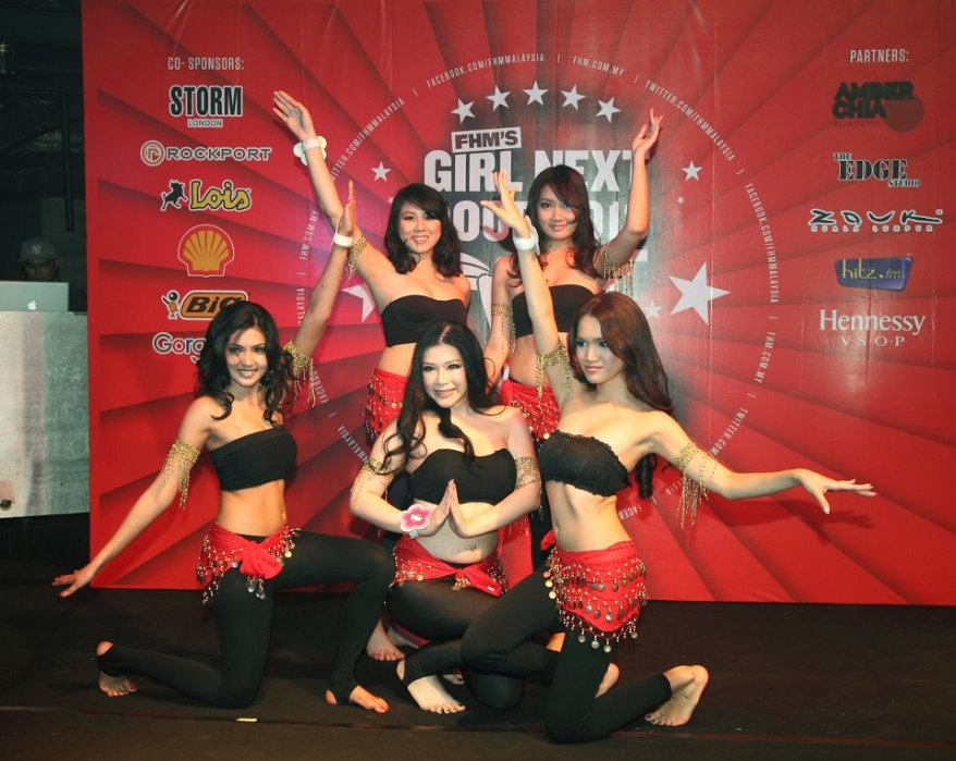 A hip shaking belly dance performance which had the guys fixated