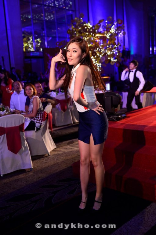 Call me maybe? Among the performers was songbird and actress Chelsia Ng (no that's not her in the photo)