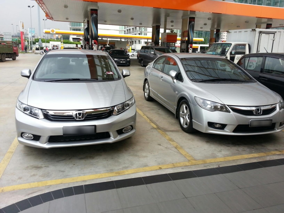 New Civic (left) versus old Civic (right)