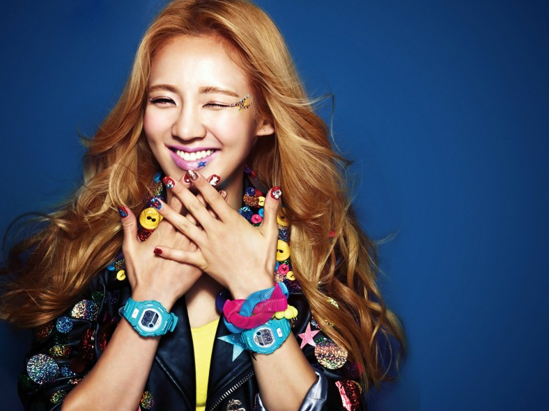 SNSD Hyoyeon Casio Baby G Wallpaper
