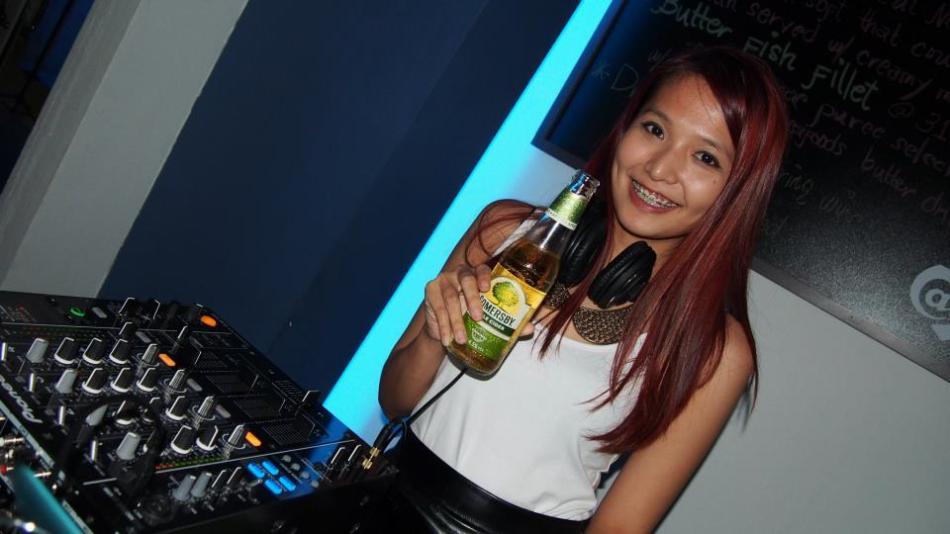 Sexy DJ April Tang on the decks!