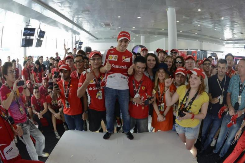 After which Felipe Massa went for a meet and greet session with the guests inside the M.Scape Lounge
