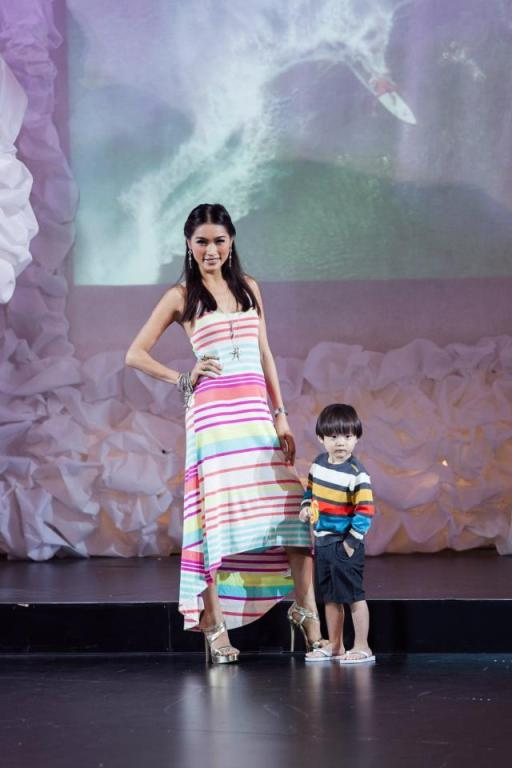 There was even a kidwear show featuring some child models which included Amber Chia's son Ashton