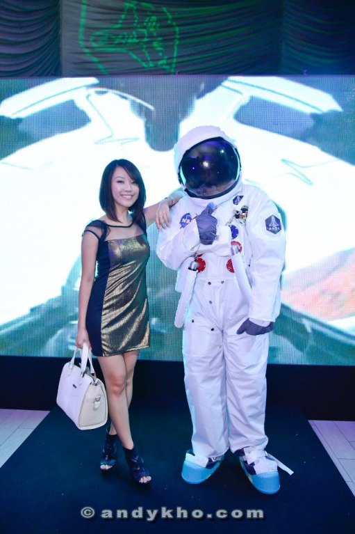 MHB's Careen Tan also couldn't resist the astronaut