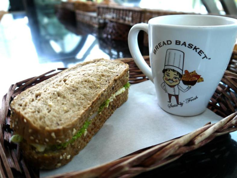 Perhaps you'd like a light lunch? Try out the sandwiches at Bread Basket and pair it with a nice drink! They do have sandwich + drink sets.
