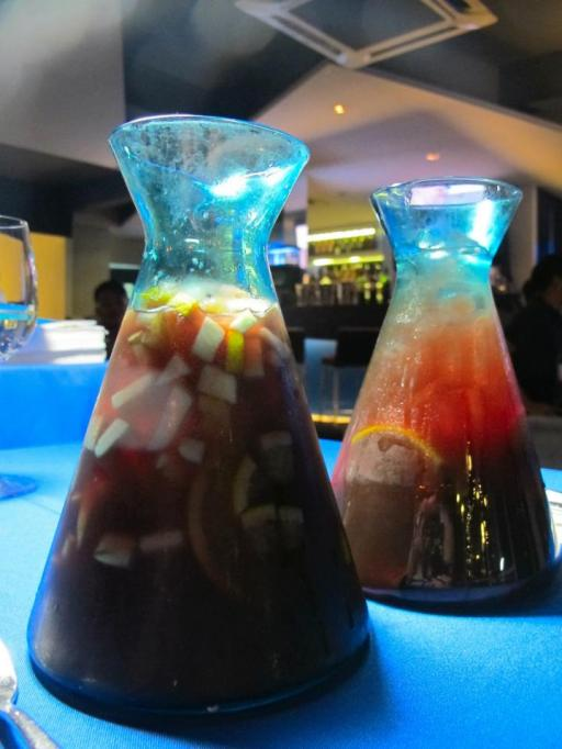 There are 2 types of sangria! One with more and different fruits. Ask your waiter for the options.