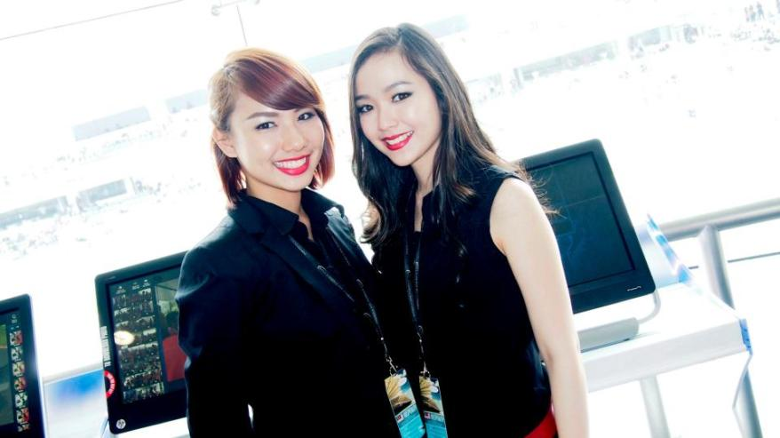 Speaking of games, these two very pretty M.Scape girls were assisting guests to play the Ferrari trivia game which was really tough even for an F1 fan like myself! I only managed to score 11th best.