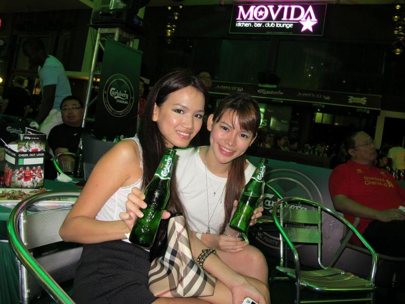 MHB's Stephanie Lim with model and DJ Vera Chang