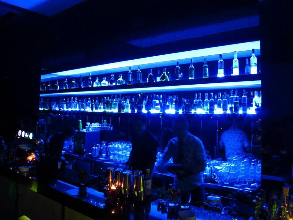 The cool looking bar