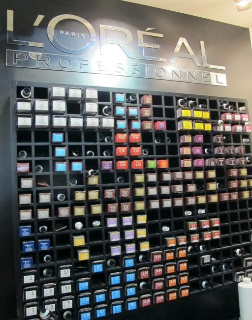 The L'Oreal colour bar - Shawn Cutler uses quality L'Oreal products so you don't have to worry about cheap products on your precious hair