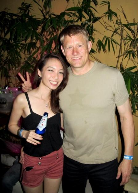 MHB's Naomi with Peter Schmeichel