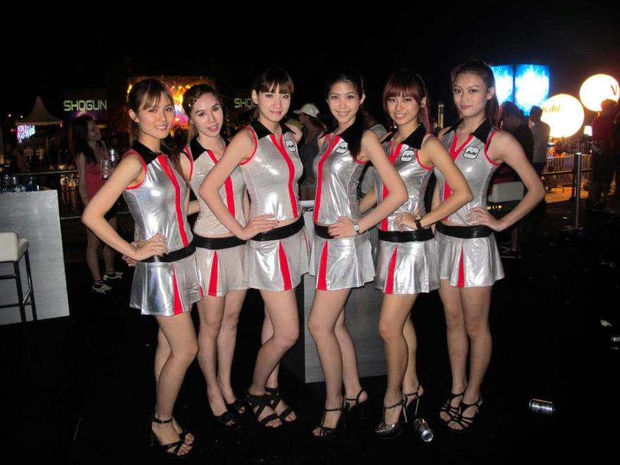 Group pic of the Asahi promoter girls!