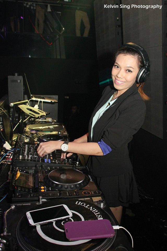 DJ Faith on the decks