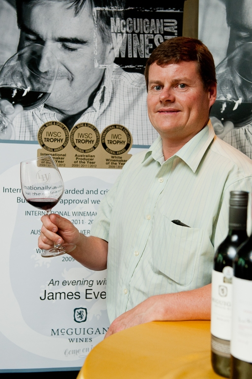 McGuigan International Winemaker, James Evers at the Wine Tasting Session with media and guests