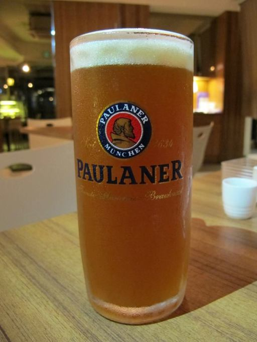 A pint of Paulaner to end the meal