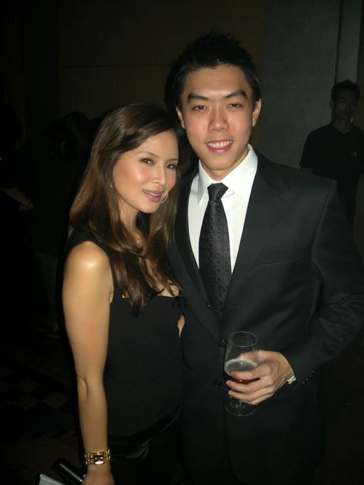Daphne Iking with Jak Tim the assistant brand manager of Carlsberg