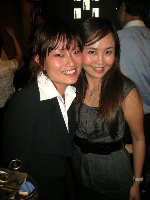 Chui Hoon (L) from Carlsberg with my colleague Lavinne (R)