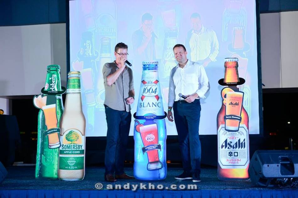They also unveiled some new beer cocktails such as the Long Cool Dane, French Kiss, and the Soren Slammer (L-R)