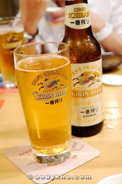 We enjoyed all the dishes with lots of Kirin Ichiban