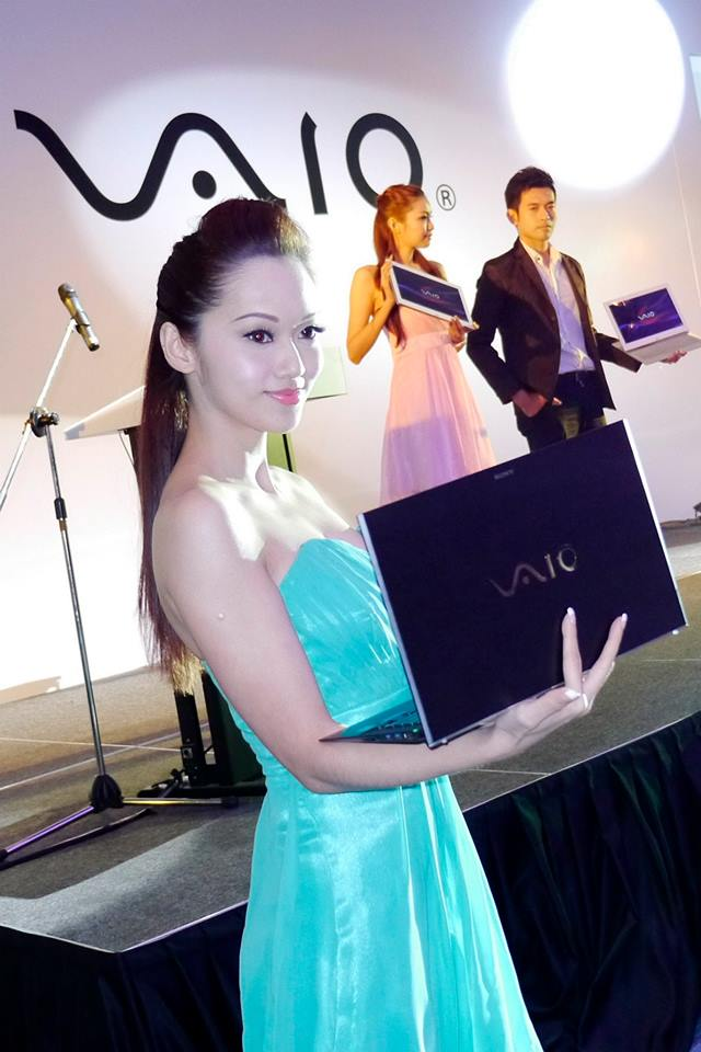 After the customary speechs, the new VAIO models were introduced!