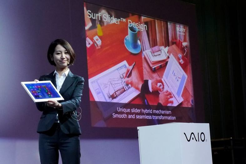 Product demo of the VAIO Duo 13 which is both a tablet and an ultrabook running on Windows 8 64 bit.