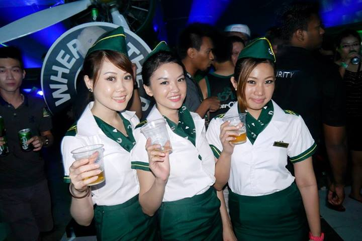 I always liked the fact that the Carlsberg girls were allowed to party with guests