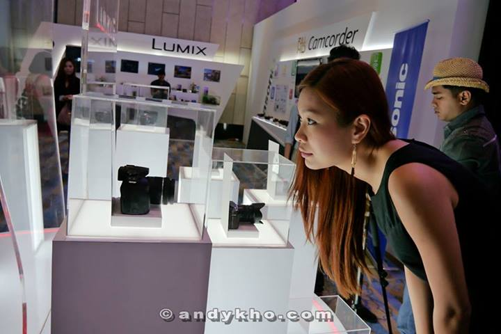 Valerie checking out the Lumix G6