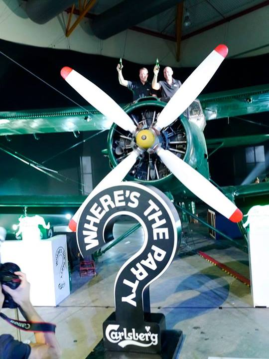 To kick off the press conference, new Carlsberg Malaysia managing director Henrik Andersen and Carlsberg Singapore managing director John Botia emerged from the cockpit of an Antonov AN-2 vintage piston engined plane to the surprise of the media!