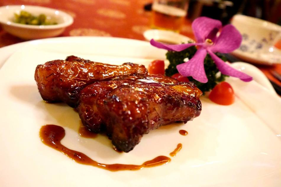Champagne Roasted Spare Ribs - Rm12.00 / Slice. HEAVENLY! I loved this. Tender pork ribs coated in a sweet sauce. A must order dish!