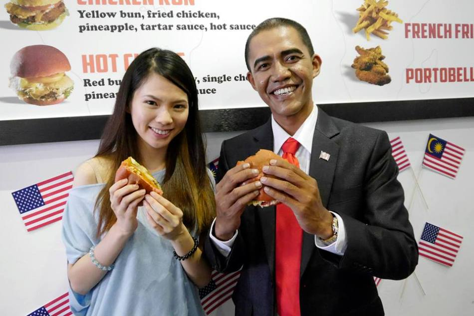"""Mei Sze with the """"president"""""""