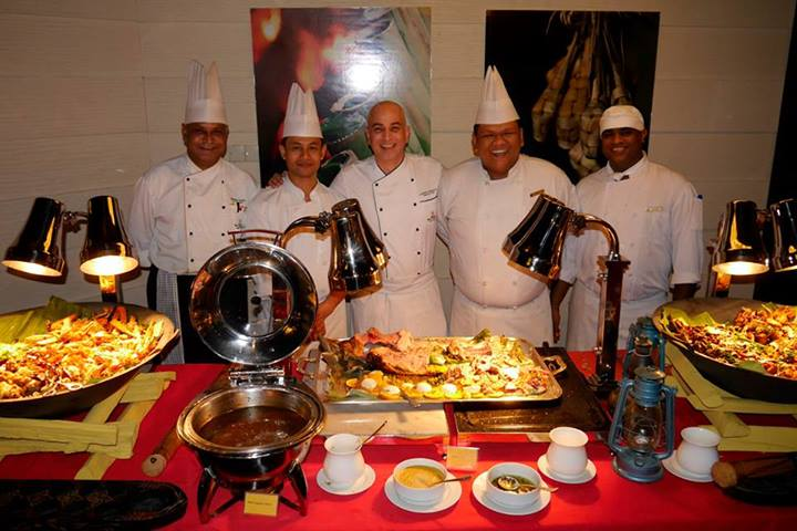 The chefs responsible for the feast