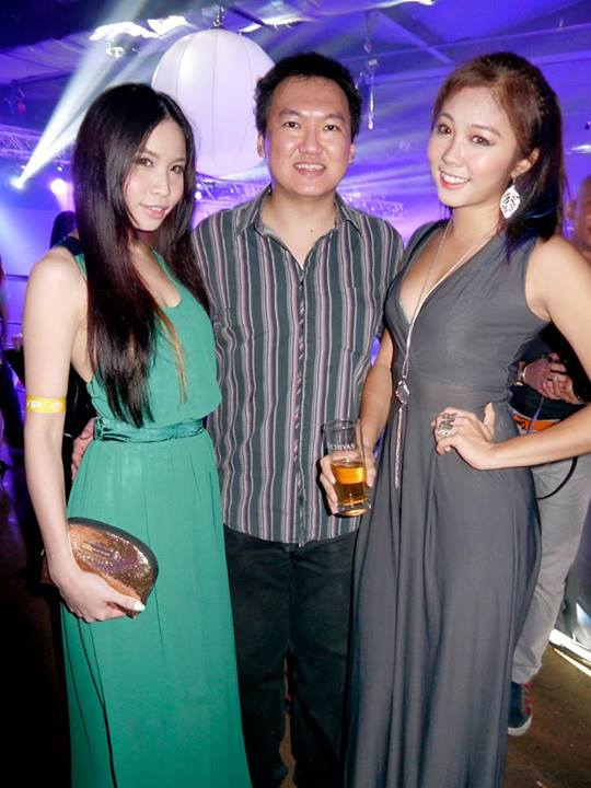 Raj introduced me to two models visiting from Singapore. I recognised them as having been featured in FHM Singapore previously.