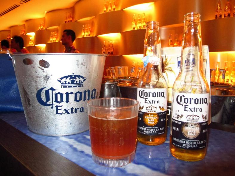 There was lots of Corona Extra and some cocktails made with Corona Extra