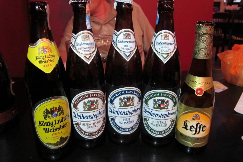 Imported Beers - Konig Ludwig (Germany) – RM27.00++ per bottle / Weihenstephan Dunkel, Hefe, Kristall (Germany) – RM27.00++ per bottle / Lefe (Belgium) _ RM18.00++ per bottle.