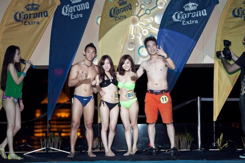 """There was also a """"Hot Bod"""" contest where the winners each received an iPad Mini while the runner-ups walked away with a bucket of Corona Extra."""