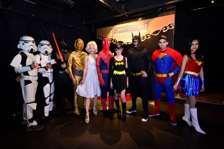 The theme of the parties was Hollywood Heroes