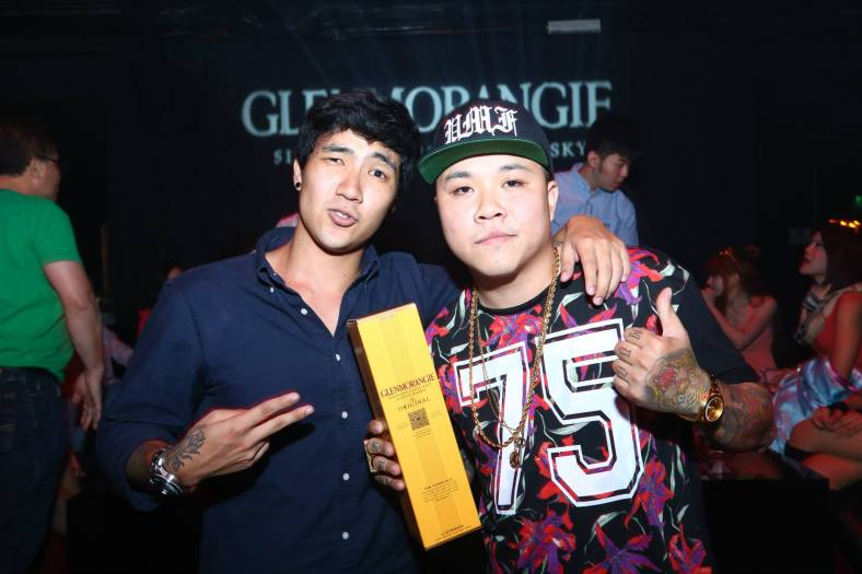 The rap battle winners posing with their prize - a bottle of Glenmorangie of course!