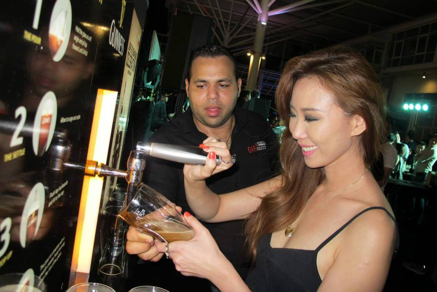Chelsea learned how to do the Guinness draught 2-part pour