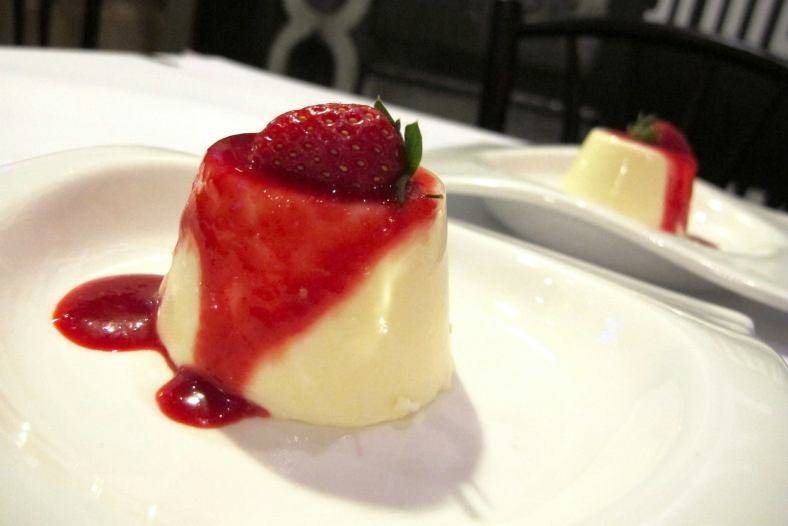 Panna Cotta (one of the dessert of the day)
