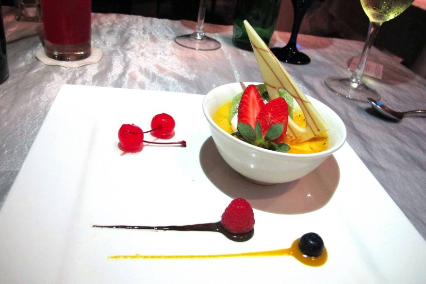 Classic Creme Brulee - served with cream and almonds - RM 24