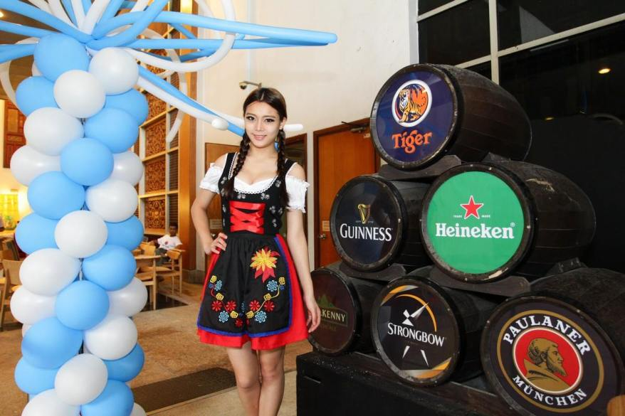 Paulaner Oktoberfest Bier available for our consumers, which is one of only six beers allowed to be called an official Oktoberfest Bier and served on Oktoberfest.