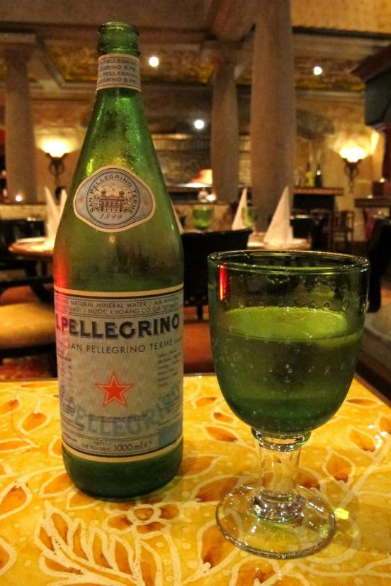 Some sparkling water to start off the meal