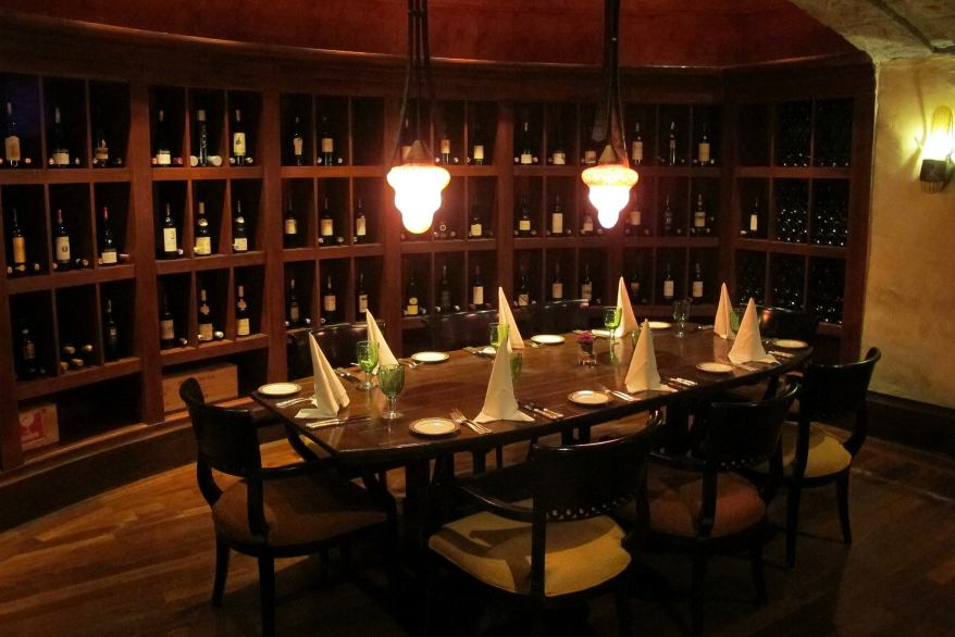 "If you're into wines perhaps you'd like to dine in the ""wine cellar"" area"